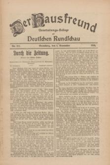 Der Hausfreund : Unterhaltungs-Beilage zur Deutschen Rundschau. 1926, Nr. 212 (5 November)