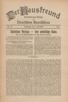 Der Hausfreund : Unterhaltungs-Beilage zur Deutschen Rundschau. 1926, Nr. 214 (7 November)