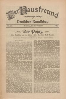 Der Hausfreund : Unterhaltungs-Beilage zur Deutschen Rundschau. 1926, Nr. 216 (10 November)
