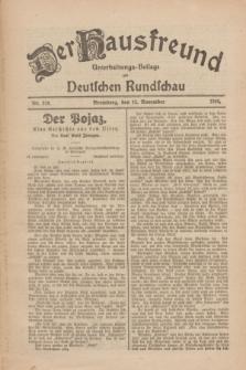 Der Hausfreund : Unterhaltungs-Beilage zur Deutschen Rundschau. 1926, Nr. 218 (12 November)