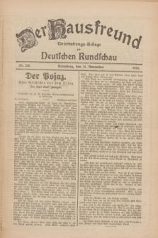 Der Hausfreund : Unterhaltungs-Beilage zur Deutschen Rundschau. 1926, Nr. 220 (14 November)