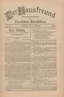 Der Hausfreund : Unterhaltungs-Beilage zur Deutschen Rundschau. 1926, Nr. 225 (21 November)