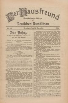 Der Hausfreund : Unterhaltungs-Beilage zur Deutschen Rundschau. 1926, Nr. 227 (24 November)