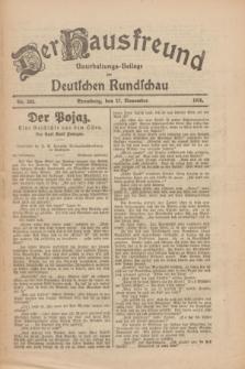 Der Hausfreund : Unterhaltungs-Beilage zur Deutschen Rundschau. 1926, Nr. 230 (27 November)
