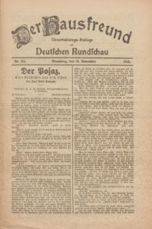 Der Hausfreund : Unterhaltungs-Beilage zur Deutschen Rundschau. 1926, Nr. 232 (30 November)