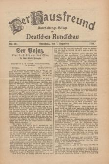 Der Hausfreund : Unterhaltungs-Beilage zur Deutschen Rundschau. 1926, Nr. 237 (7 Dezember)