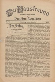 Der Hausfreund : Unterhaltungs-Beilage zur Deutschen Rundschau. 1926, Nr. 240 (11 Dezember)