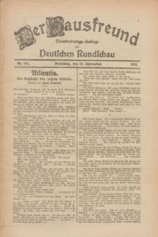 Der Hausfreund : Unterhaltungs-Beilage zur Deutschen Rundschau. 1926, Nr. 184 A (28 September)