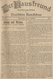 Der Hausfreund : Unterhaltungs-Beilage zur Deutschen Rundschau. 1927, Nr. 16 (21 Januar)