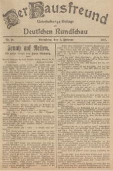 Der Hausfreund : Unterhaltungs-Beilage zur Deutschen Rundschau. 1927, Nr. 26 (5 Februar)