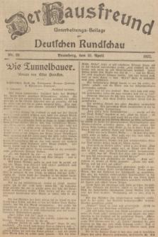 Der Hausfreund : Unterhaltungs-Beilage zur Deutschen Rundschau. 1927, Nr. 69 (10 April)