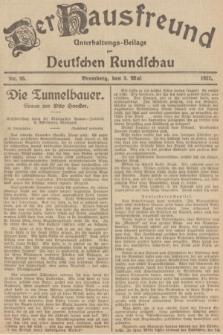 Der Hausfreund : Unterhaltungs-Beilage zur Deutschen Rundschau. 1927, Nr. 85 (3 Mai)