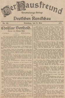 Der Hausfreund : Unterhaltungs-Beilage zur Deutschen Rundschau. 1927, Nr. 105 (28 Mai)