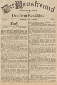 Der Hausfreund : Unterhaltungs-Beilage zur Deutschen Rundschau. 1927, Nr. 154 (3 August)