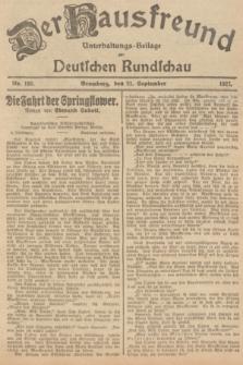 Der Hausfreund : Unterhaltungs-Beilage zur Deutschen Rundschau. 1927, Nr. 192 (21 September)