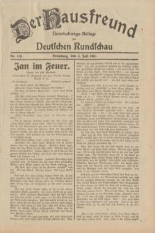 Der Hausfreund : Unterhaltungs-Beilage zur Deutschen Rundschau. 1931, Nr. 148 (2 Juli)