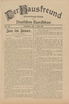 Der Hausfreund : Unterhaltungs-Beilage zur Deutschen Rundschau. 1931, Nr. 150 (4 Juli)