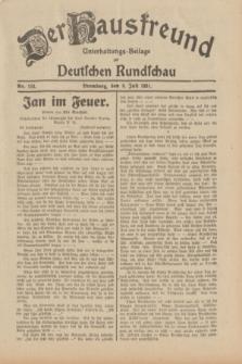 Der Hausfreund : Unterhaltungs-Beilage zur Deutschen Rundschau. 1931, Nr. 153 (8 Juli)