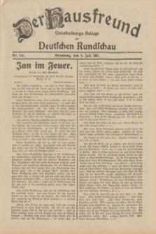 Der Hausfreund : Unterhaltungs-Beilage zur Deutschen Rundschau. 1931, Nr. 154 (9 Juli)