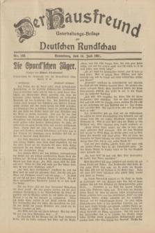 Der Hausfreund : Unterhaltungs-Beilage zur Deutschen Rundschau. 1931, Nr. 160 (16 Juli)