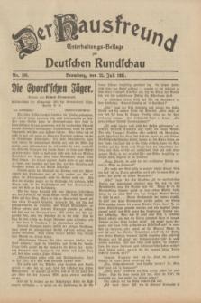 Der Hausfreund : Unterhaltungs-Beilage zur Deutschen Rundschau. 1931, Nr. 168 (25 Juli)