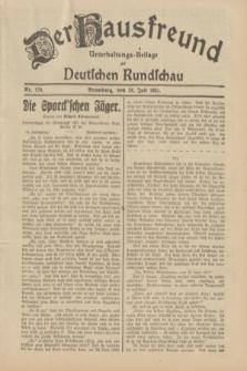 Der Hausfreund : Unterhaltungs-Beilage zur Deutschen Rundschau. 1931, Nr. 170 (28 Juli)