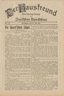Der Hausfreund : Unterhaltungs-Beilage zur Deutschen Rundschau. 1931, Nr. 172 (30 Juli)