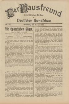 Der Hausfreund : Unterhaltungs-Beilage zur Deutschen Rundschau. 1931, Nr. 173 (31 Juli)