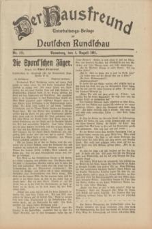 Der Hausfreund : Unterhaltungs-Beilage zur Deutschen Rundschau. 1931, Nr. 176 (4 August)