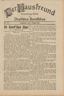 Der Hausfreund : Unterhaltungs-Beilage zur Deutschen Rundschau. 1931, Nr. 177 (5 August)