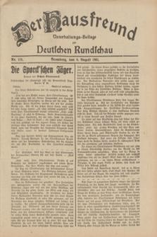 Der Hausfreund : Unterhaltungs-Beilage zur Deutschen Rundschau. 1931, Nr. 178 (6 August)