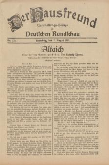 Der Hausfreund : Unterhaltungs-Beilage zur Deutschen Rundschau. 1931, Nr. 179 (7 August)