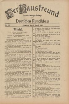 Der Hausfreund : Unterhaltungs-Beilage zur Deutschen Rundschau. 1931, Nr. 180 (8 August)