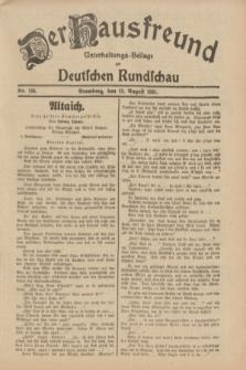 Der Hausfreund : Unterhaltungs-Beilage zur Deutschen Rundschau. 1931, Nr. 184 (13 August)