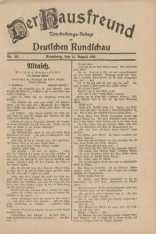 Der Hausfreund : Unterhaltungs-Beilage zur Deutschen Rundschau. 1931, Nr. 185 (14 August)