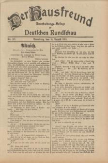 Der Hausfreund : Unterhaltungs-Beilage zur Deutschen Rundschau. 1931, Nr. 187 (18 August)