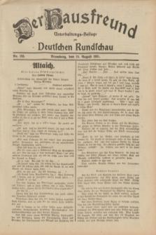 Der Hausfreund : Unterhaltungs-Beilage zur Deutschen Rundschau. 1931, Nr. 188 (19 August)