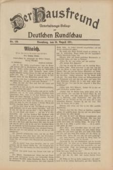 Der Hausfreund : Unterhaltungs-Beilage zur Deutschen Rundschau. 1931, Nr. 189 (20 August)