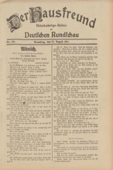 Der Hausfreund : Unterhaltungs-Beilage zur Deutschen Rundschau. 1931, Nr. 192 (23 August)