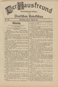 Der Hausfreund : Unterhaltungs-Beilage zur Deutschen Rundschau. 1931, Nr. 193 (25 August)