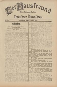 Der Hausfreund : Unterhaltungs-Beilage zur Deutschen Rundschau. 1931, Nr. 194 (26 August)