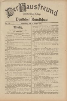 Der Hausfreund : Unterhaltungs-Beilage zur Deutschen Rundschau. 1931, Nr. 195 (27 August)