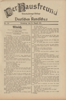 Der Hausfreund : Unterhaltungs-Beilage zur Deutschen Rundschau. 1931, Nr. 196 (28 August)