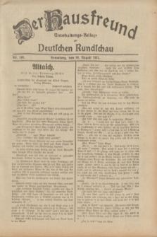 Der Hausfreund : Unterhaltungs-Beilage zur Deutschen Rundschau. 1931, Nr. 198 (30 August)