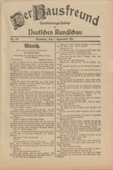 Der Hausfreund : Unterhaltungs-Beilage zur Deutschen Rundschau. 1931, Nr. 199 (1 September)