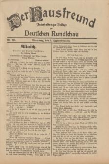 Der Hausfreund : Unterhaltungs-Beilage zur Deutschen Rundschau. 1931, Nr. 200 (2 September)
