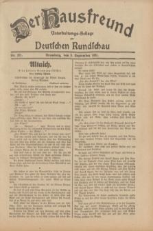 Der Hausfreund : Unterhaltungs-Beilage zur Deutschen Rundschau. 1931, Nr. 201 (3 September)