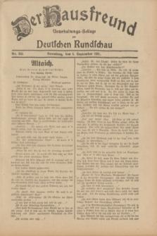Der Hausfreund : Unterhaltungs-Beilage zur Deutschen Rundschau. 1931, Nr. 202 (4 September)