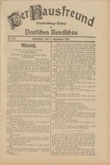 Der Hausfreund : Unterhaltungs-Beilage zur Deutschen Rundschau. 1931, Nr. 203 (5 September)