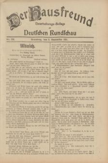 Der Hausfreund : Unterhaltungs-Beilage zur Deutschen Rundschau. 1931, Nr. 204 (6 September)